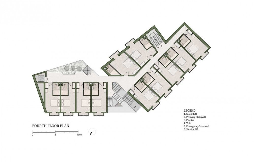 Gallery of 40 room boutique hotel chris briffa for Hotel architecture plan