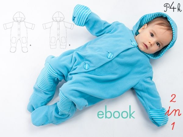 One Piece Baby Overall Sewing Pattern | Jumpsuits | sewing patterns ...