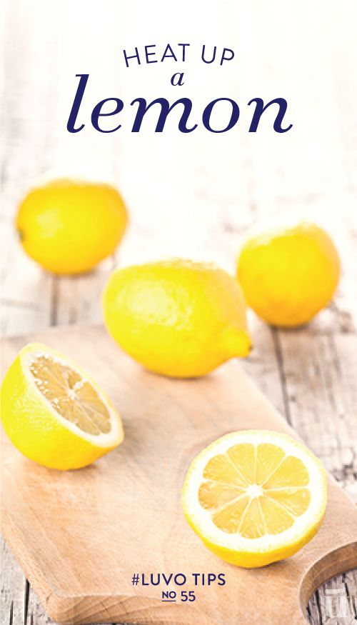 Heat up a lemon for 10 seconds before juicing, this will break down the cells and allow the juice to flow a lot faster #juice #lemon #LuvoTips