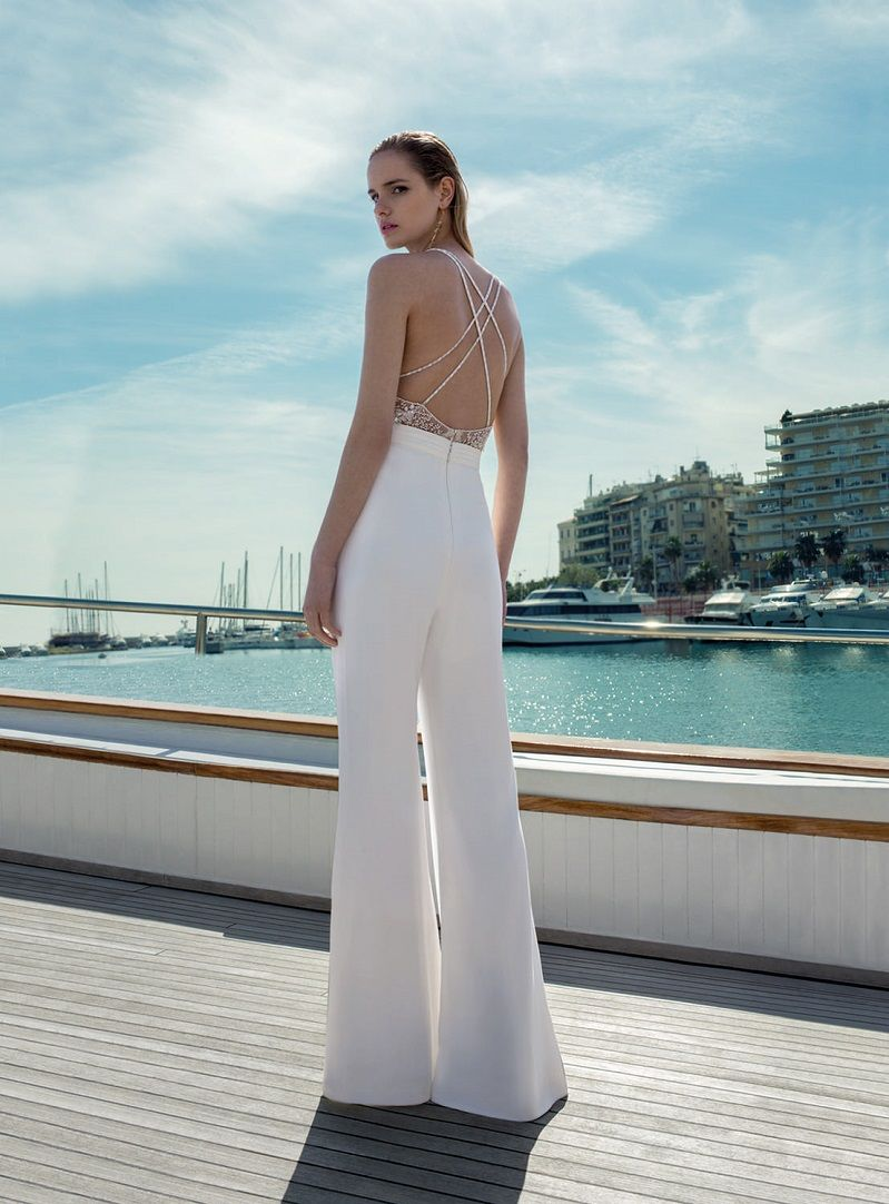 sexy back jumpsuit wedding dress - wedding gown, lace wedding dress, Demetrios Bridal Wedding Dresses #weddingdress #weddinggown #weddingdresses #bridalgown