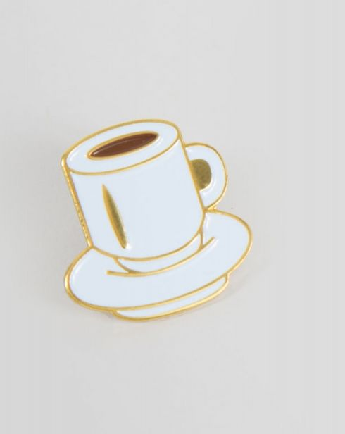 Rosehound Apparel Coffee Cup Pin - Everything - Categories - Womens