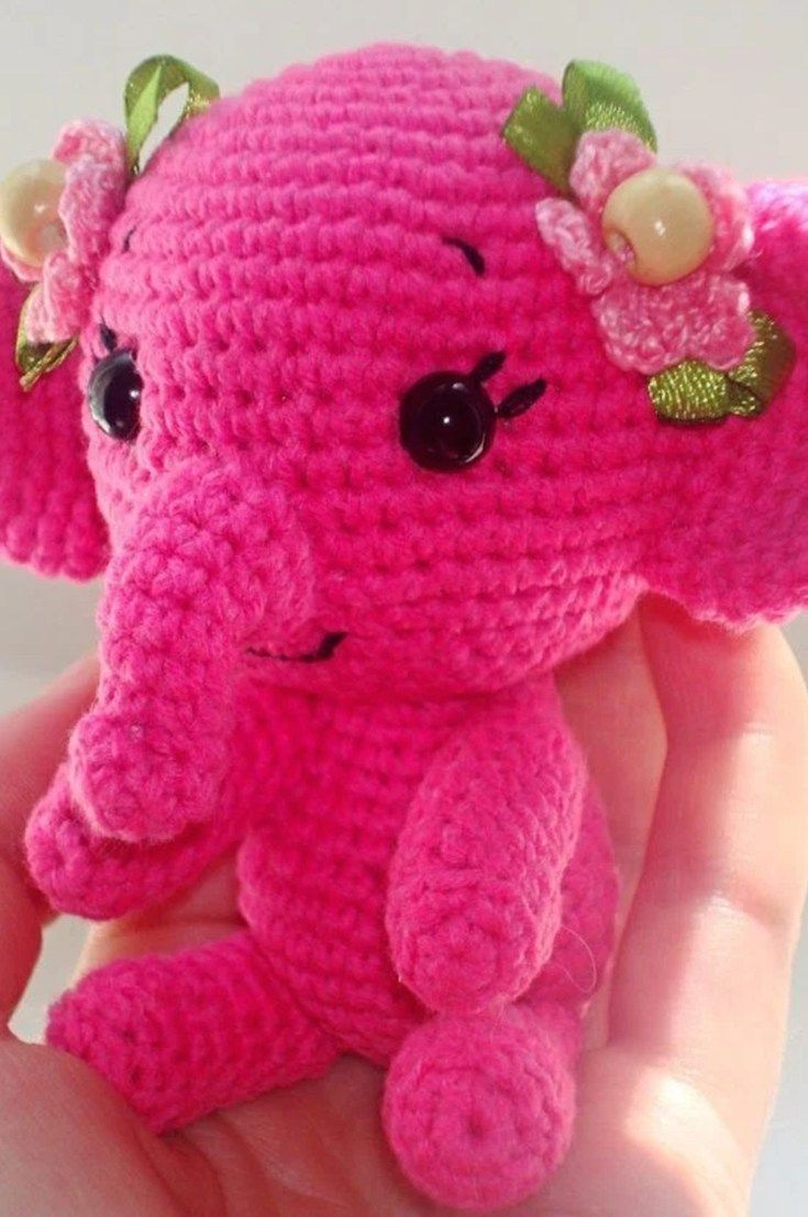 Free Crochet Elephant Pattern Free Crochet Elephant Pattern A Really Cute Amigurumi Crochet #crochetelephantpattern