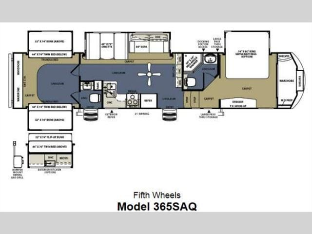 Th Wheel Bathroom Floor Plans Sierra SAQ Fifth Wheel - Forest river 5th wheel floor plans