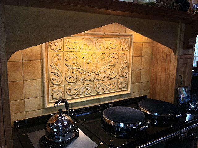 Kitchen backsplash medallions kitchen backsplash tile for Kitchen backsplash medallion