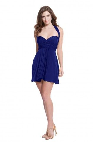 Sakura Royal Blue Mini Convertible Dress - Mini Dress ...