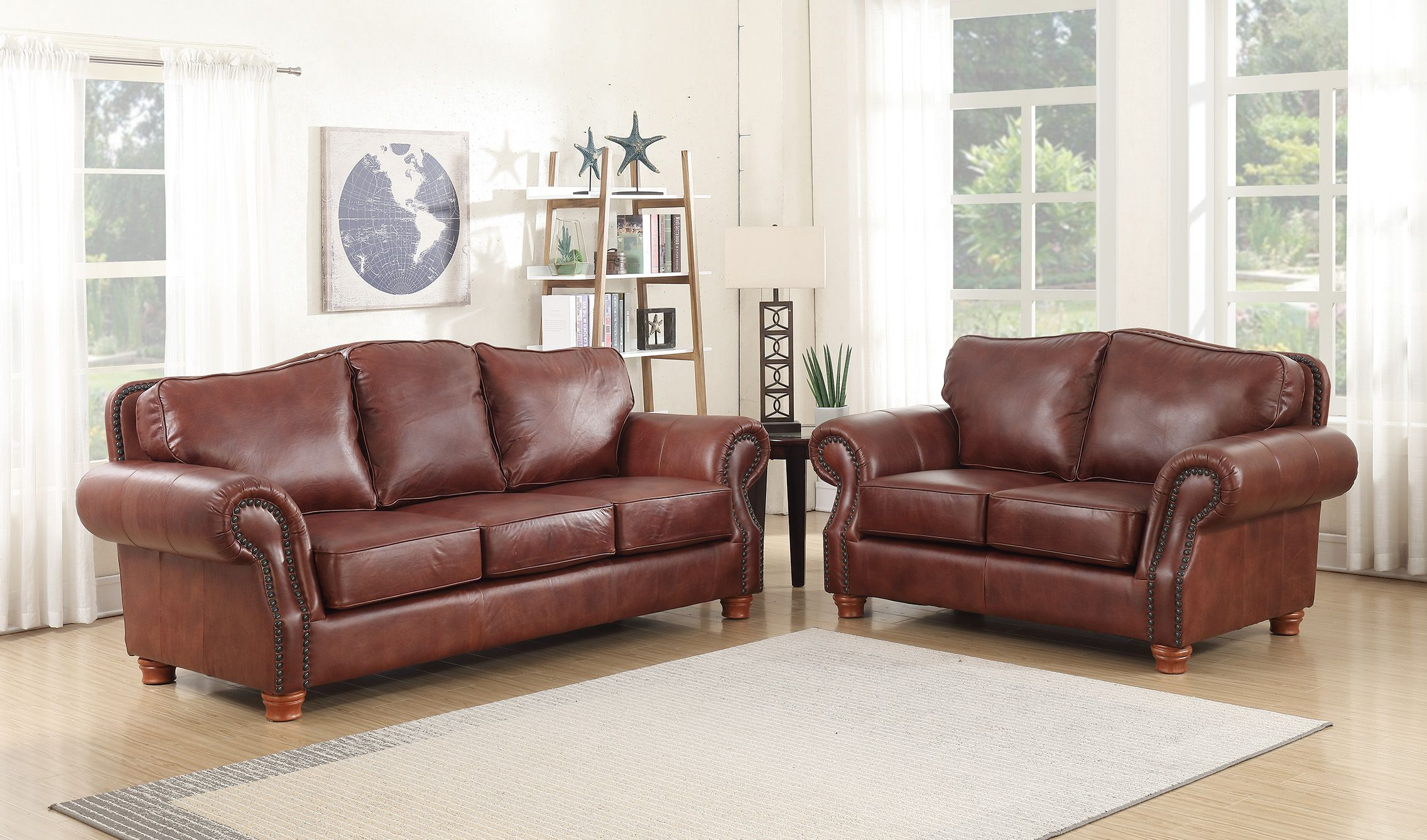 Sensational 6089 Rustic Rust Leather Group Sofa And Loveseat Lacrosse Andrewgaddart Wooden Chair Designs For Living Room Andrewgaddartcom