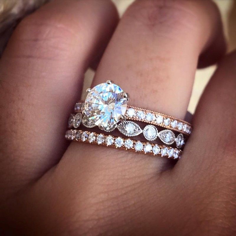 Which Order Do You Wear Wedding Engagement And Eternity Rings Diamonds Factory Blog Wedding Rings Eternity Ring Ring Guide