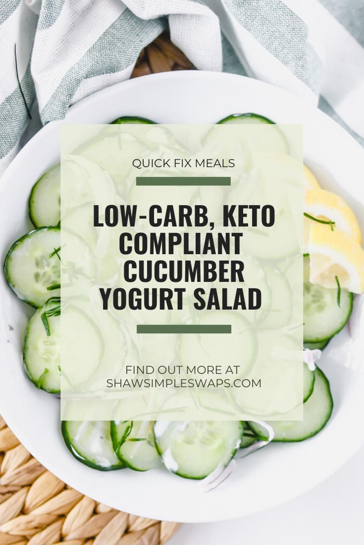 Cucumber Yogurt Salad #ketofriendlysalads Cucumber Yogurt Salad - a simple twist on the Indian classic salad that's light, refreshing and naturally low-carb and keto friendly. #ketorecipes. #lowcarbrecipes #cucumbersalad #saladrecipes #ketofriendlysalads