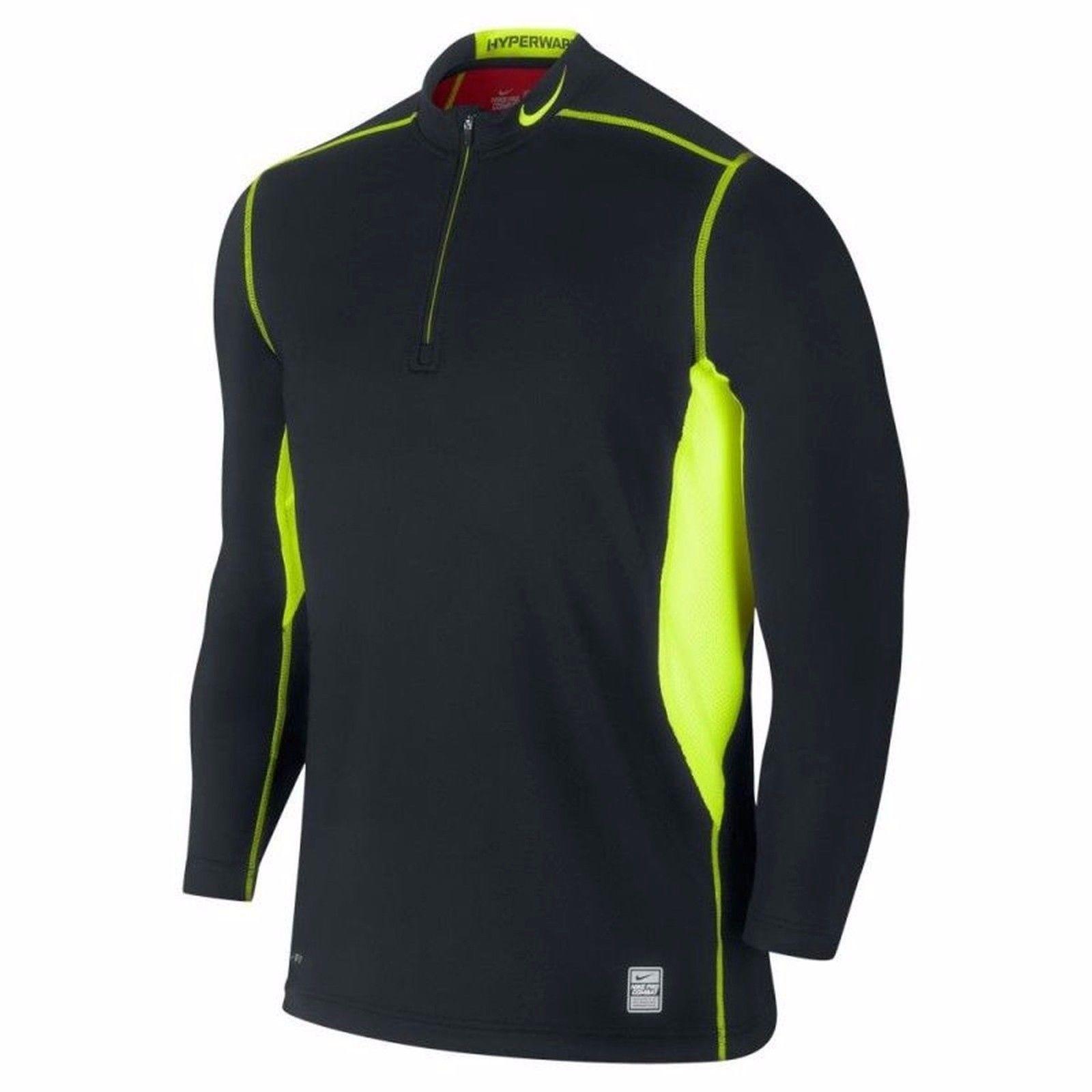Nike pro combat hyperwarm drifit max quarterzip mens