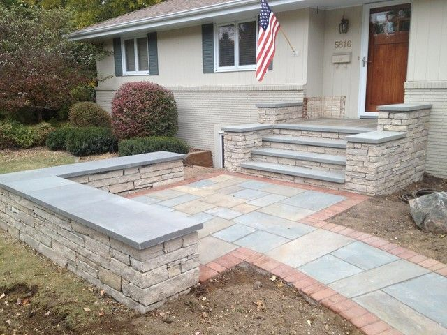 Delightful Exceptional Stone Patio Steps #7 Stone Patios With Sitting Walls .