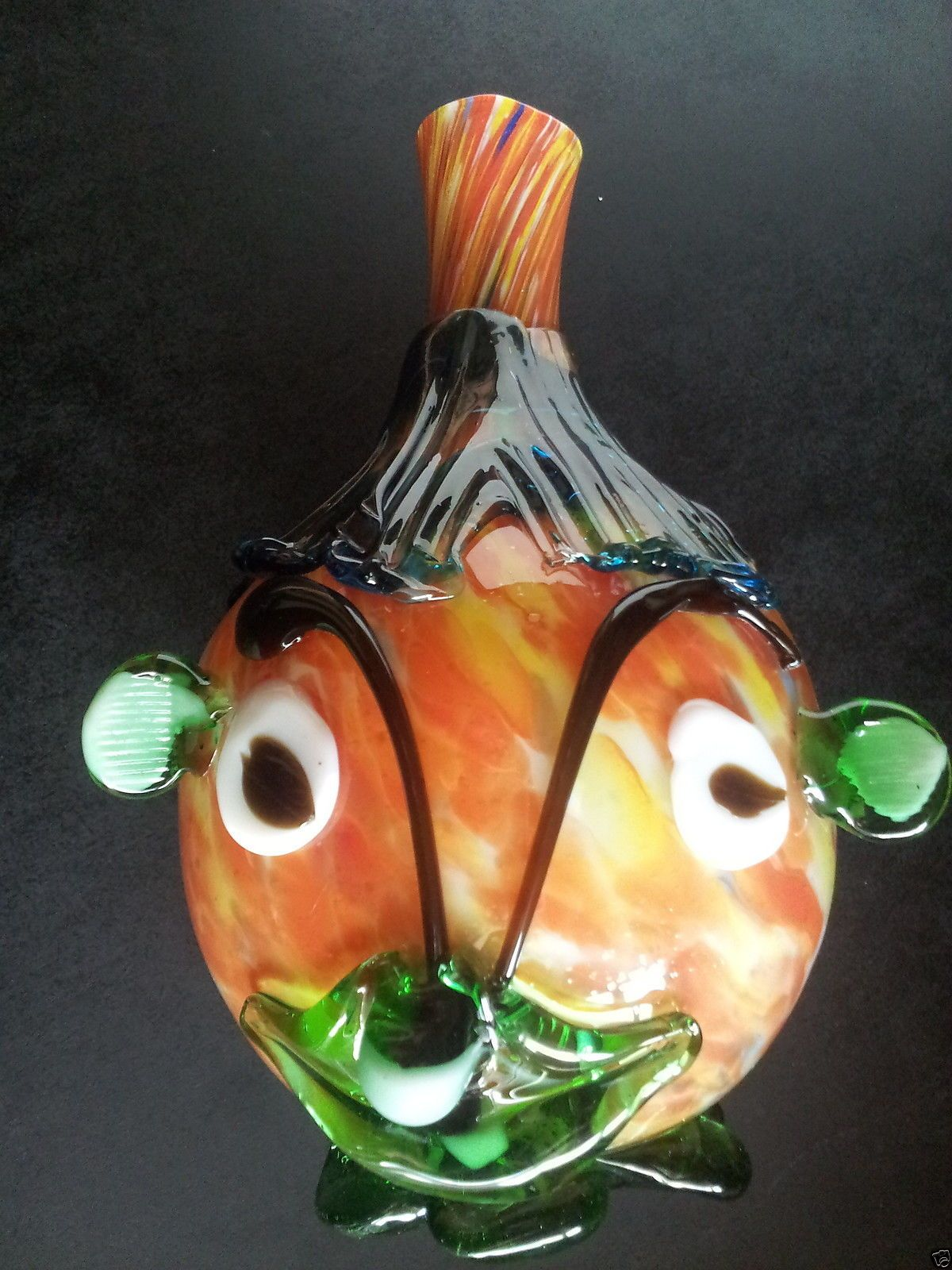 Vintage murano hand blown glass vase jug mrs potato head fish or vintage murano hand blown glass vase jug mrs potato head fish or clown face reviewsmspy