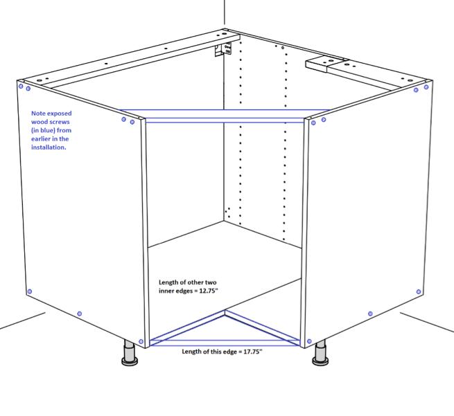 How To Hack A Flat Front Ikea Corner Sink Corner Sink Corner