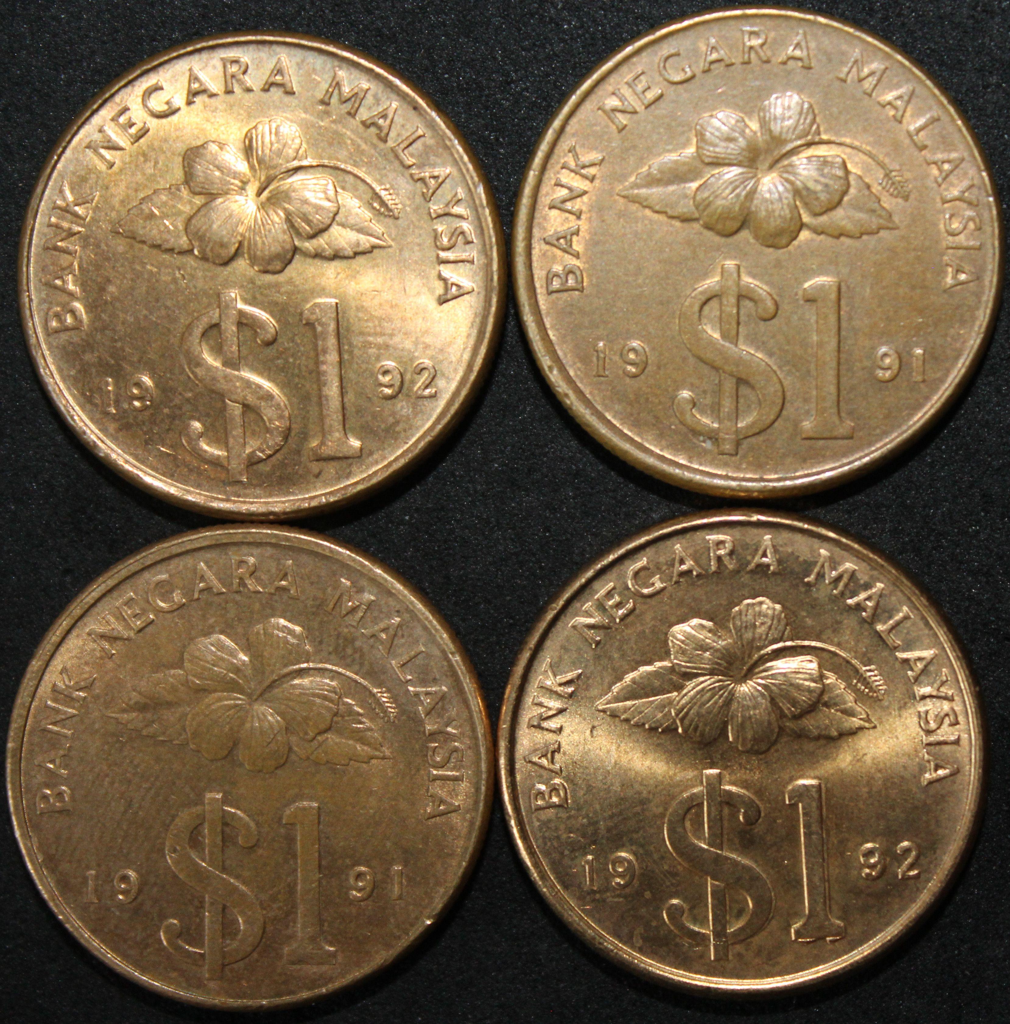 Mix Of Malaysia 1 Dollar Coins Bulk Coins Km Coins Monedas