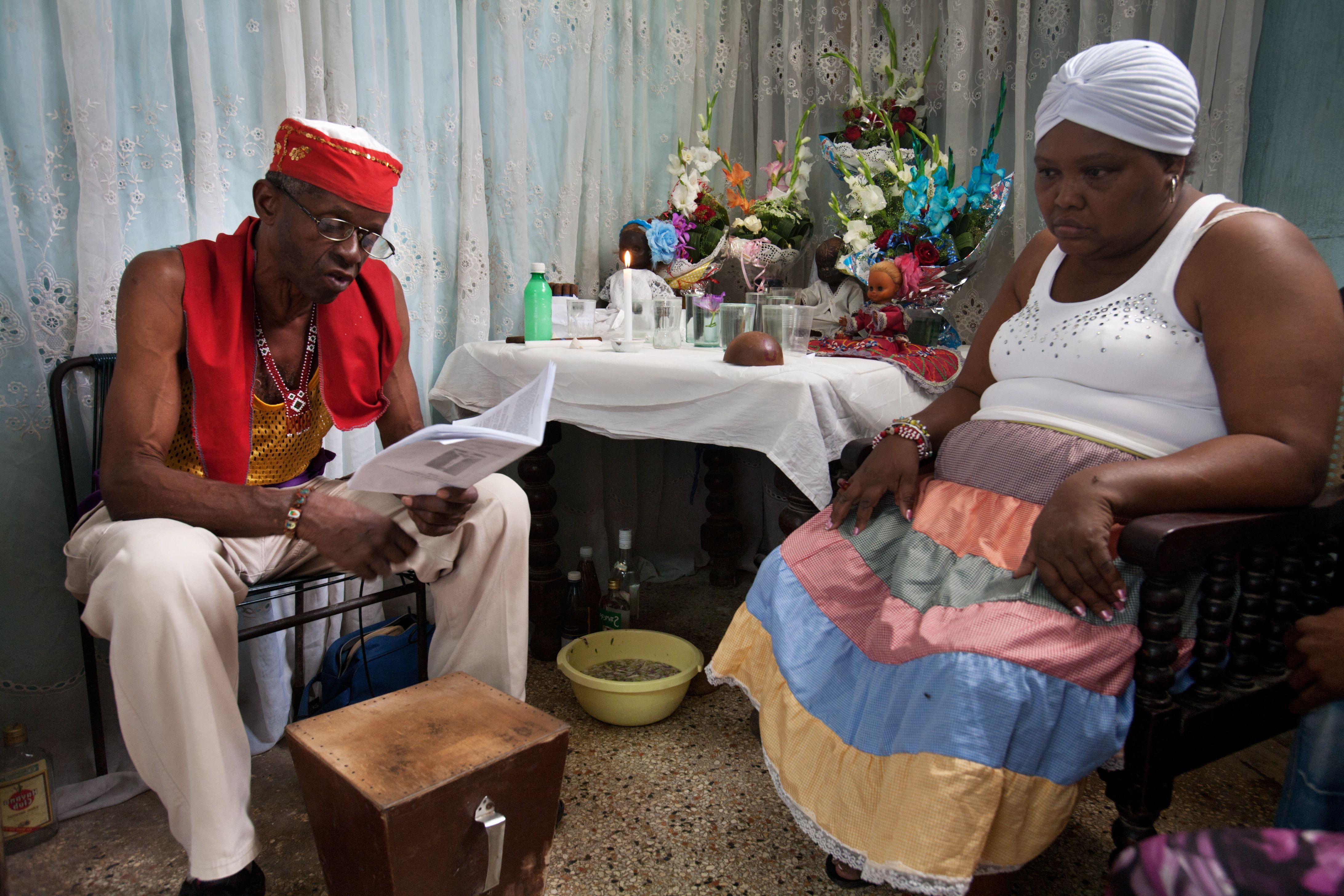 Santería en Cuba. Ceremonia de Cajón de muertos