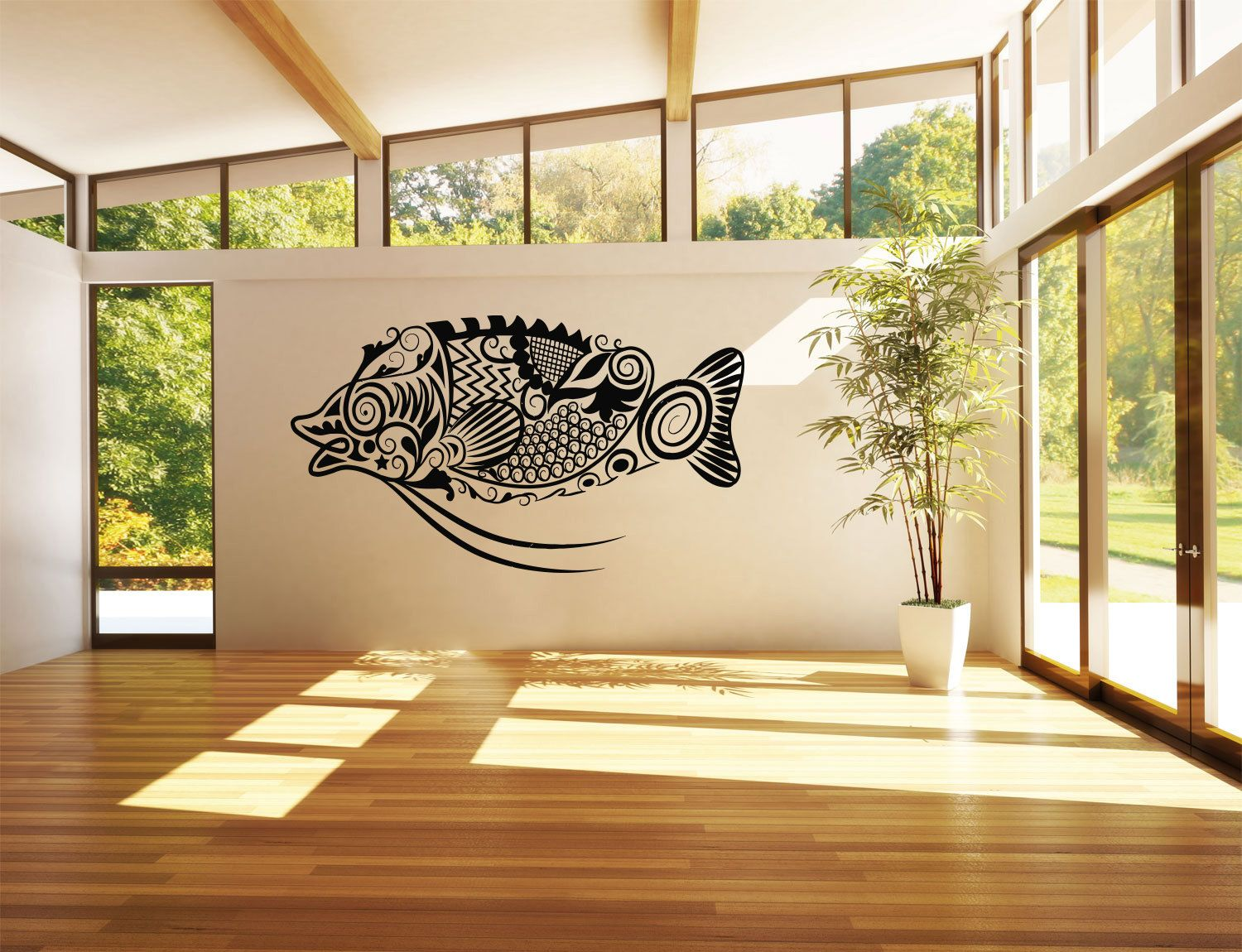 Wall Vinyl Sticker Decals Mural Room Design Pattern Art Decor Fish ...