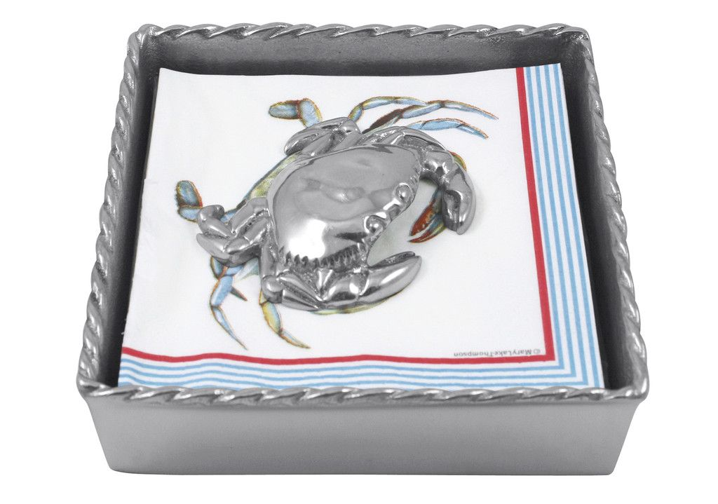 Crab Twist Cocktail Napkin Box Set