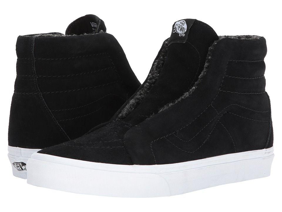fccd245ab6 Vans SK8-Hi Reissue Laceless HG Skate Shoes (Suede) Fleece Black ...