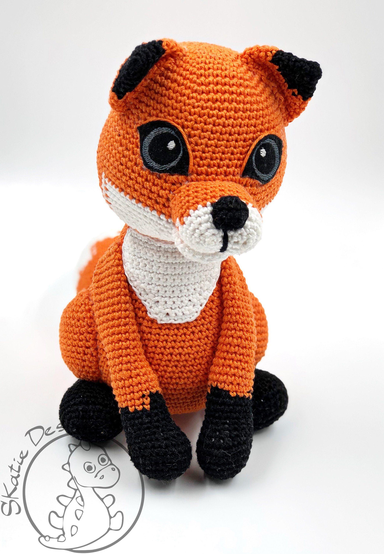Crochet Pattern Fox Felix Amigurumi PDF Cute Orange and