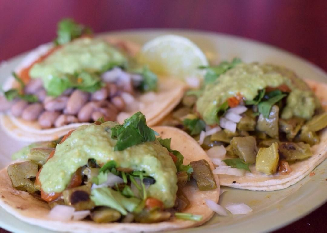 Vegan tacos from Taco Chukis in Seattle
