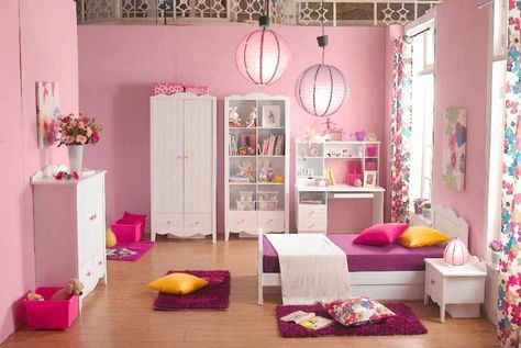 Warna Cat Kamar Tidur Anak Perempuan | TV | Pinterest | Small rooms ...