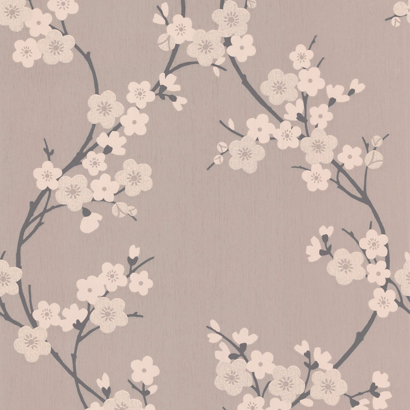 Super Fresco Paste The Paper Cherry Blossom Charcoal Taupe