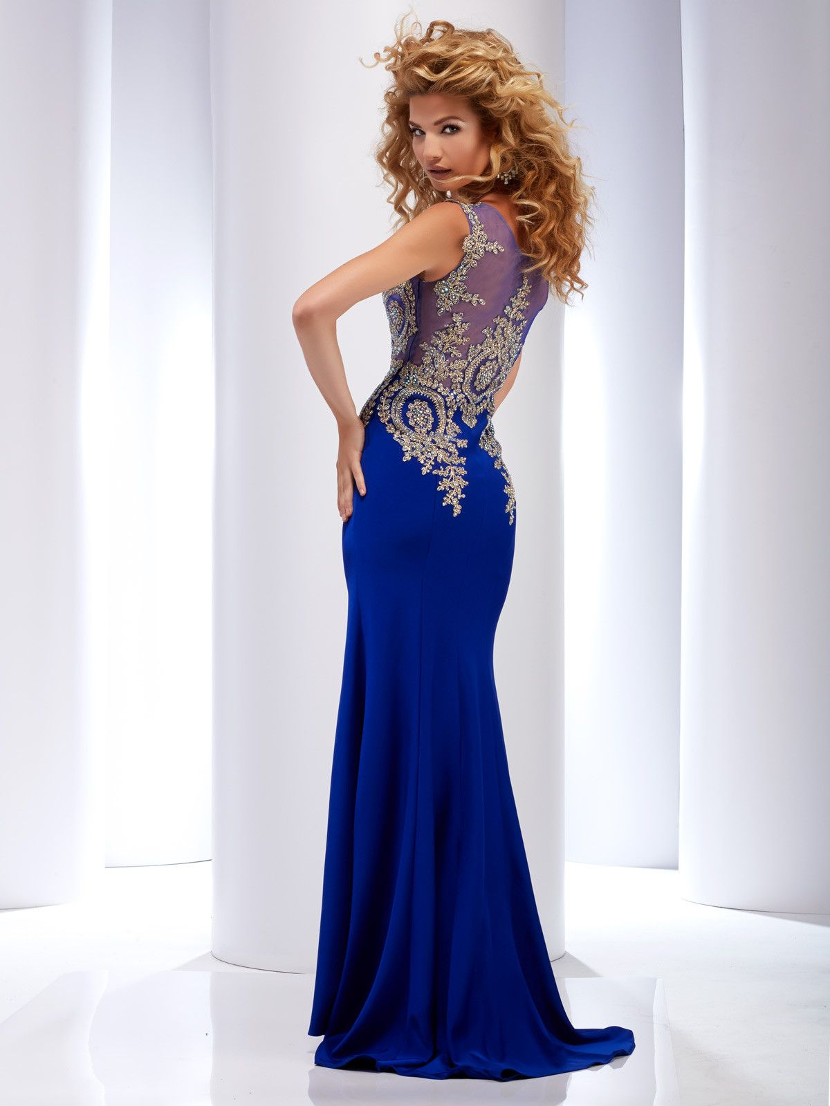 sweeping electric blue gown - HD1200×1600