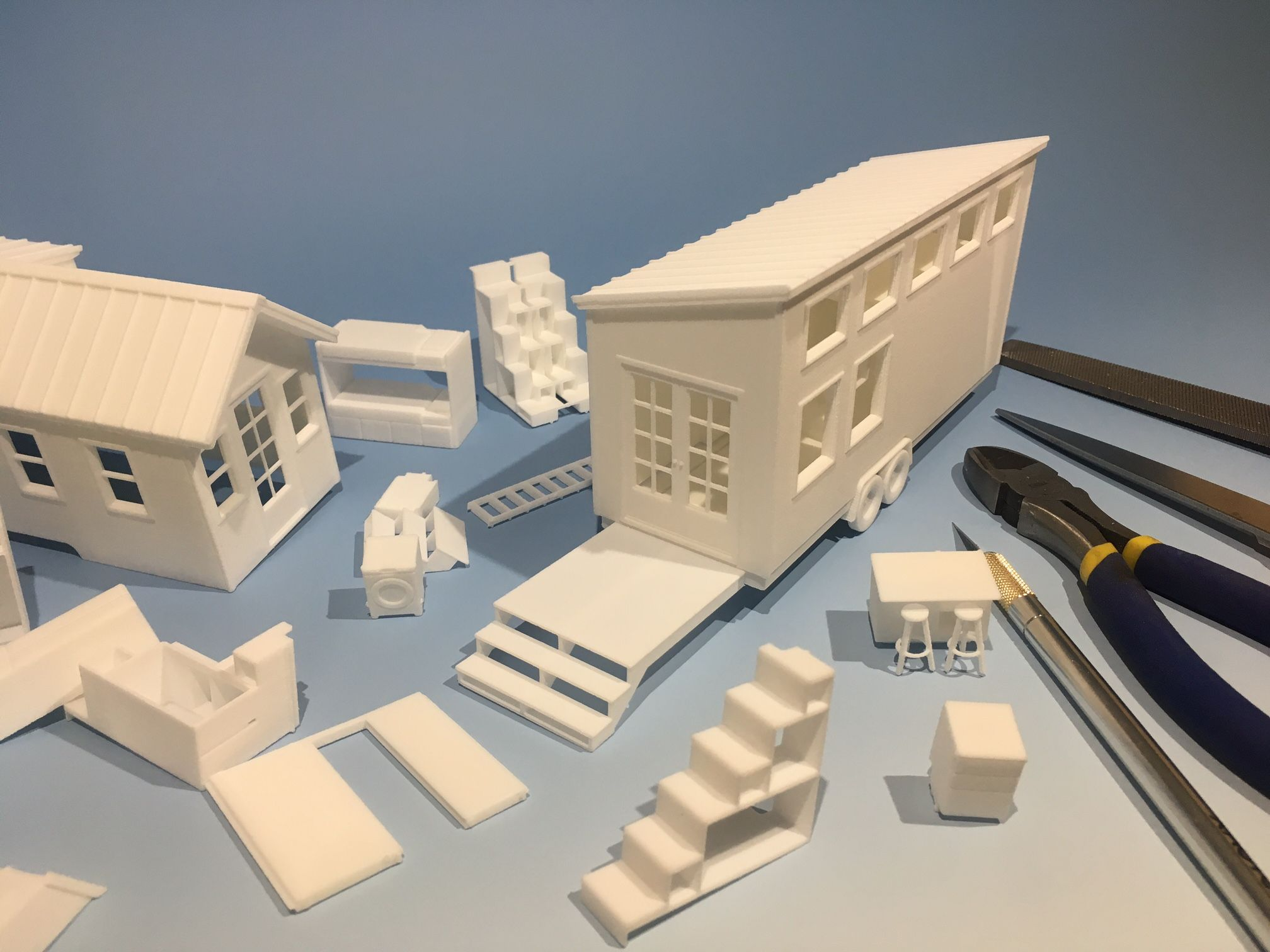 Would you like one of my first 3D printed tiny house models Today