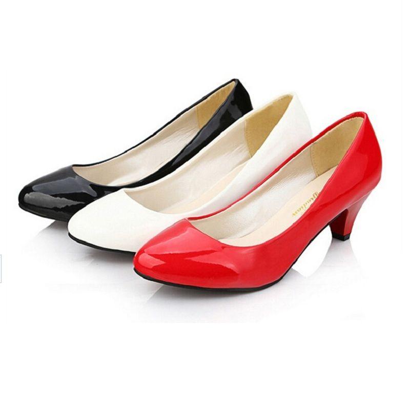 Cheapest Low Kitten Heels Women Wedding Pumps Shoes Casual