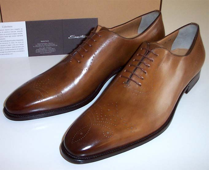 Santoni Mens ITALIAN MADE  Wingtip//Oxfords 100/%Authentic New In Box USA Seller