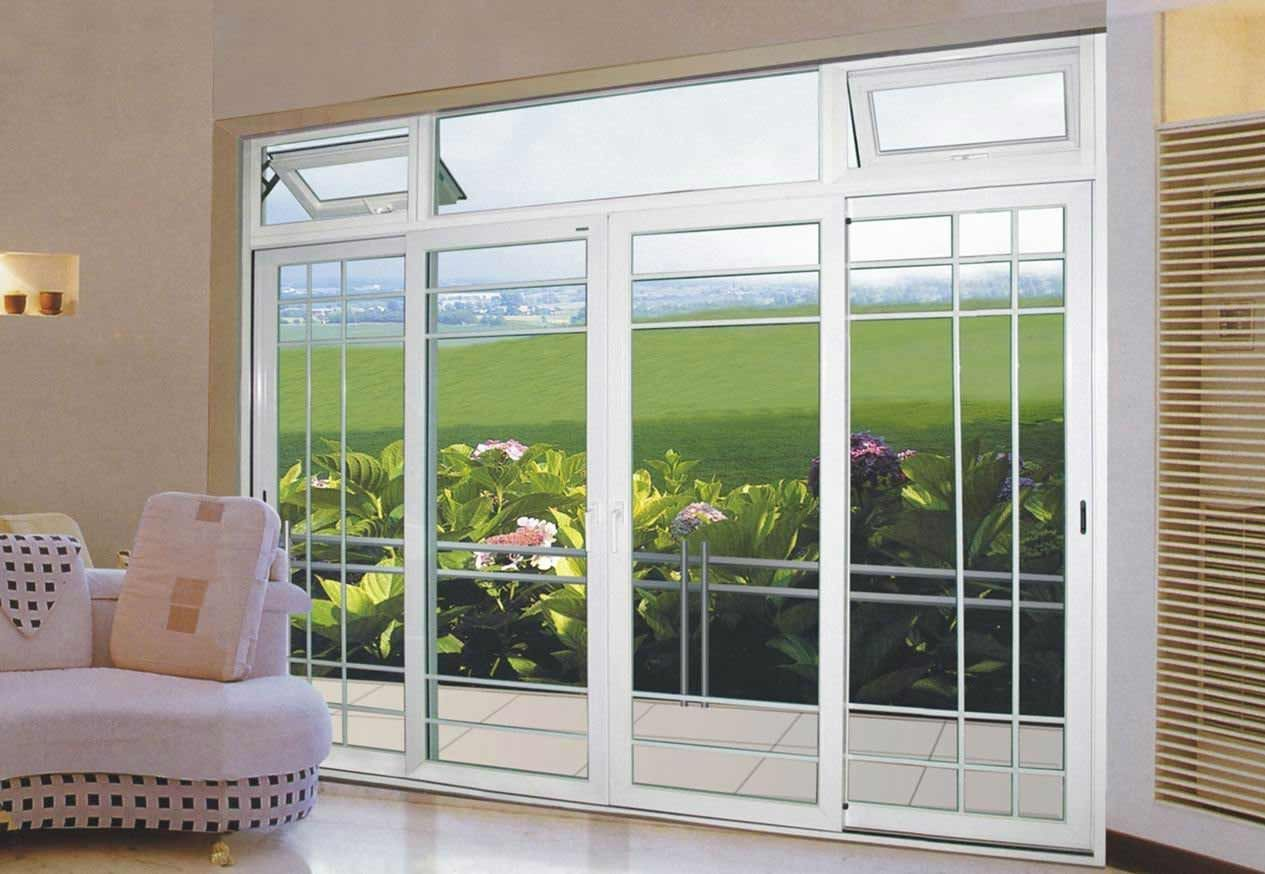 8\' sliding glass patio doors | Love the offset grille pattern ...