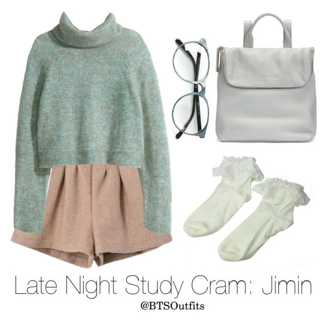 """""""Late Night Exam Cram: Jimin"""" by btsoutfits ❤ liked on Polyvore featuring Retrò, H&M and Whistles"""