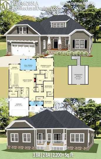 Architectural designs house plan la with bonus over garage br ba sq ft ready when you are where do want to build also rh pinterest