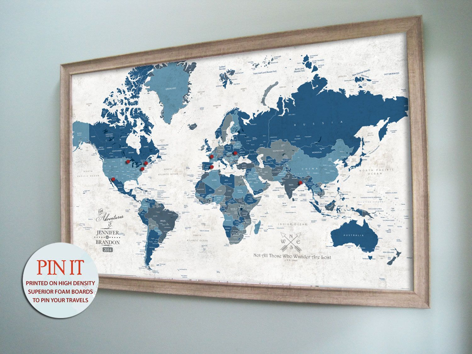 Large map framed detailed map 30x45 inches world by texturedink large map framed detailed map 30x45 inches world by texturedink 37900 gumiabroncs Gallery