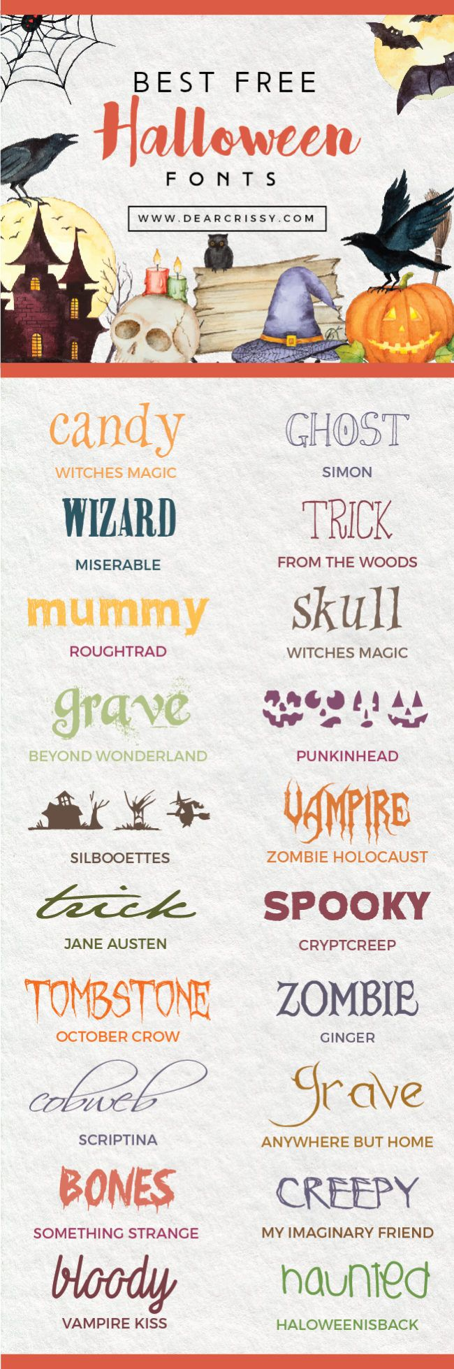 free halloween schriftarten # 8