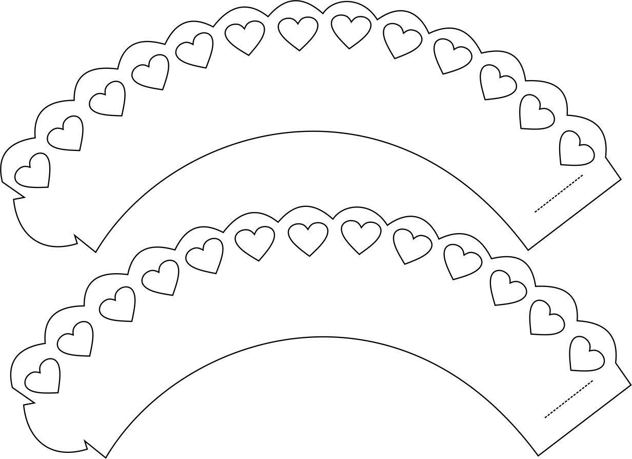 Molde Para Imprimir De Laco Lonita De Cilicone: Saias Para Cupcakes, Wallpapers Para Cupcake, Molde De