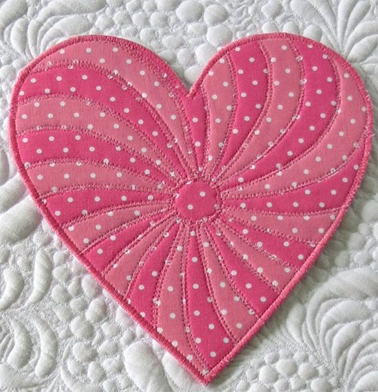 Free Heart Pattern For Quilts Coasters Placemats Geta S