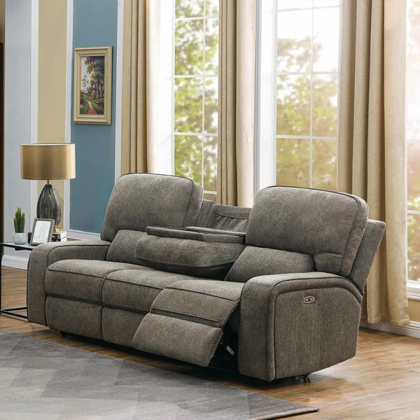 Jacey Upholstered Power^2 Sofa with DropDown Table in