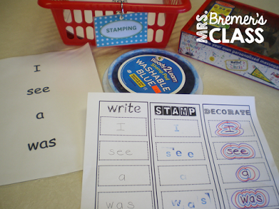 Mrs. Bremer's Class: literacy centres - my idea would be to do this center with their name at the beginning of the year.