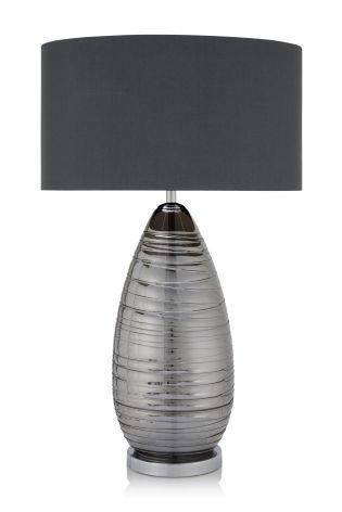 Buy Smoke Drizzle Glass Table Lamp From The Next Uk Online Shop