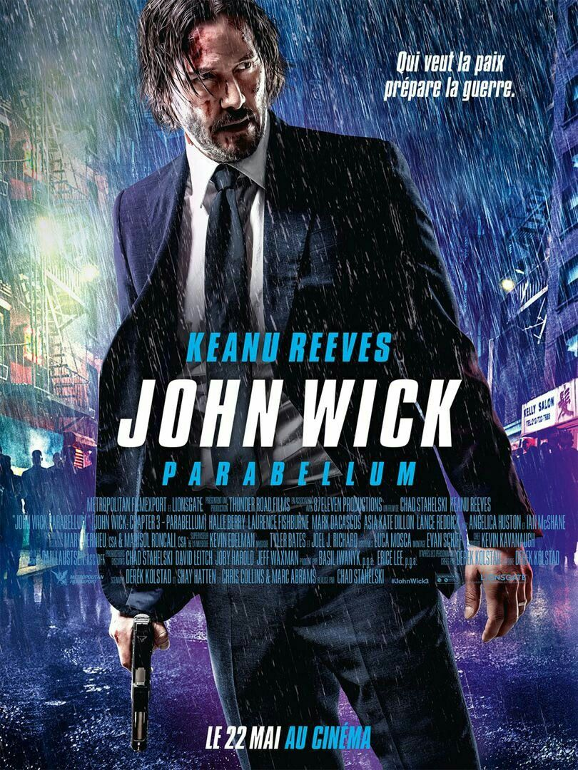 New French Poster For John Wick Chapter 3 Parabellum 2019 Dir Chad Stahelski Posteres De Filmes Filmes Hd 1080p
