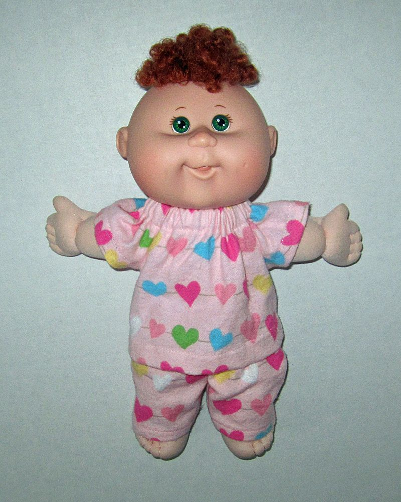 Cabbage Patch Newborn Doll Clothes Pink Heart Pajama Set 10 Etsy Doll Clothes Boy Outfits Cabbage Patch Dolls