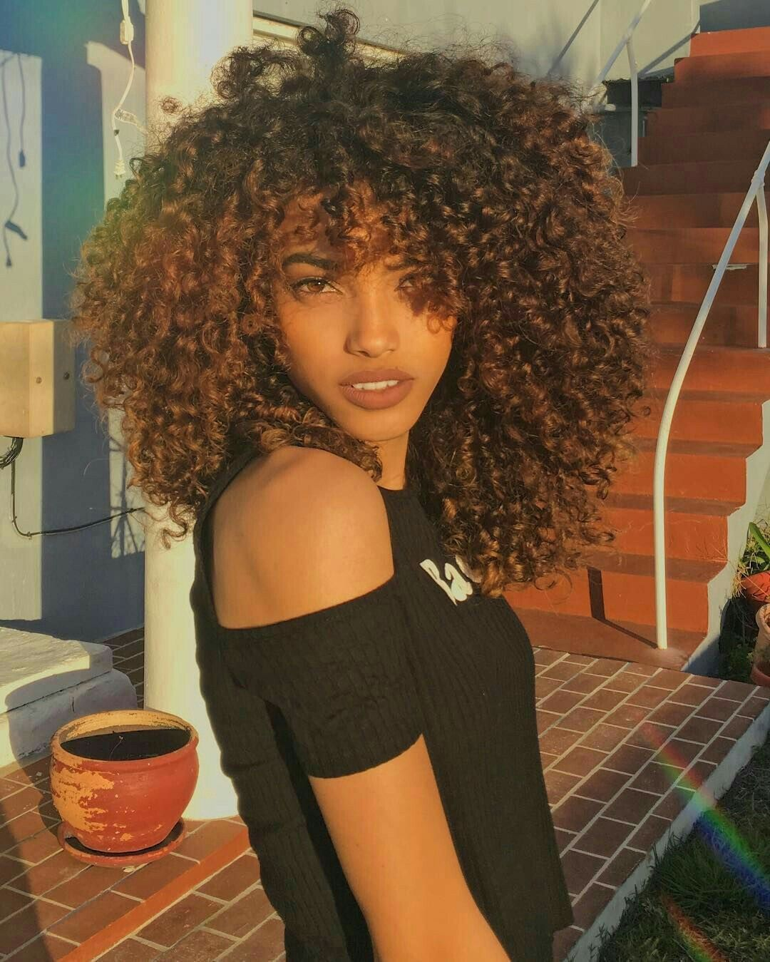 Pin by mya fincher on cute hairstyles pinterest curly