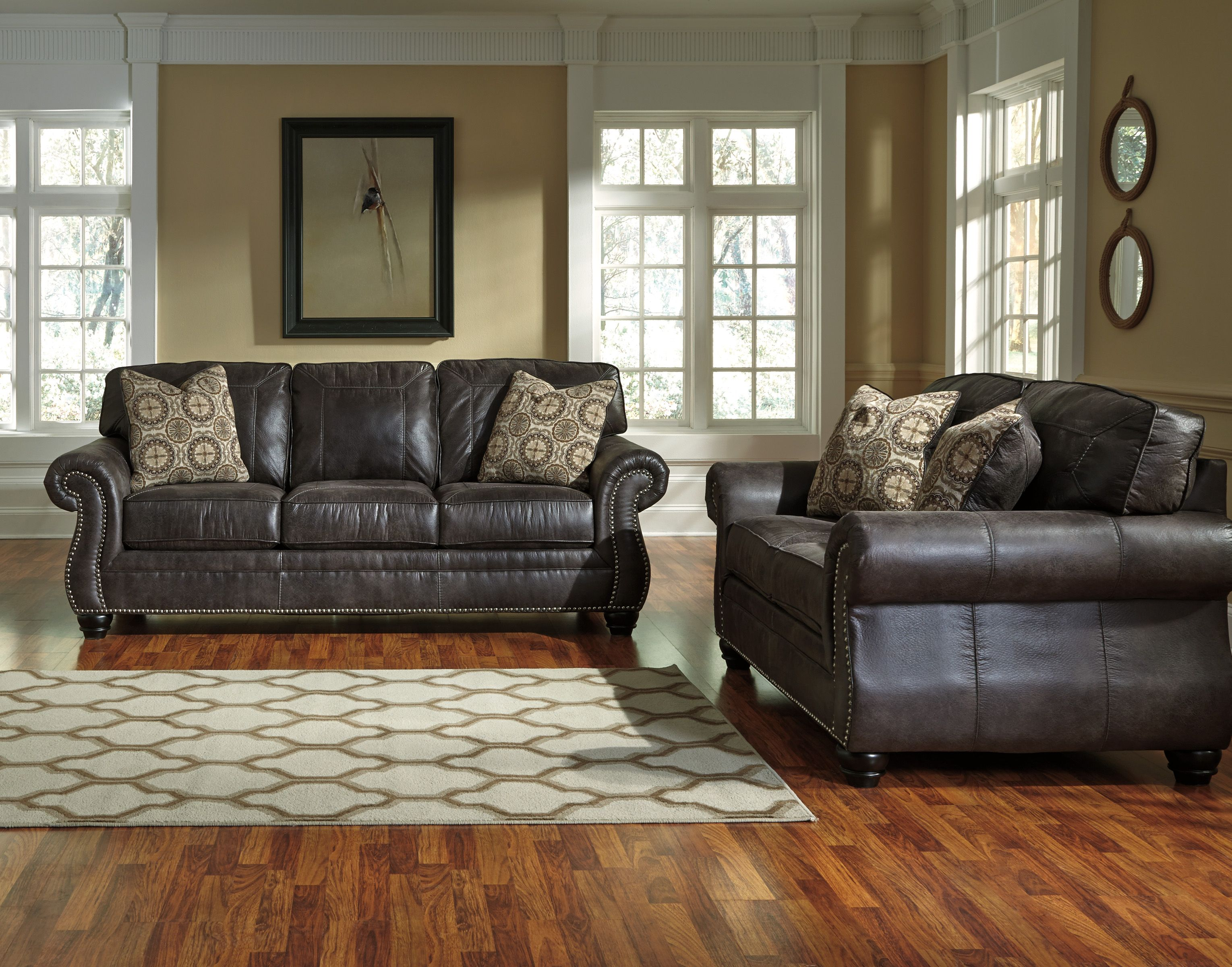 Our new Bay Shore sofa group gives the look of leather at an