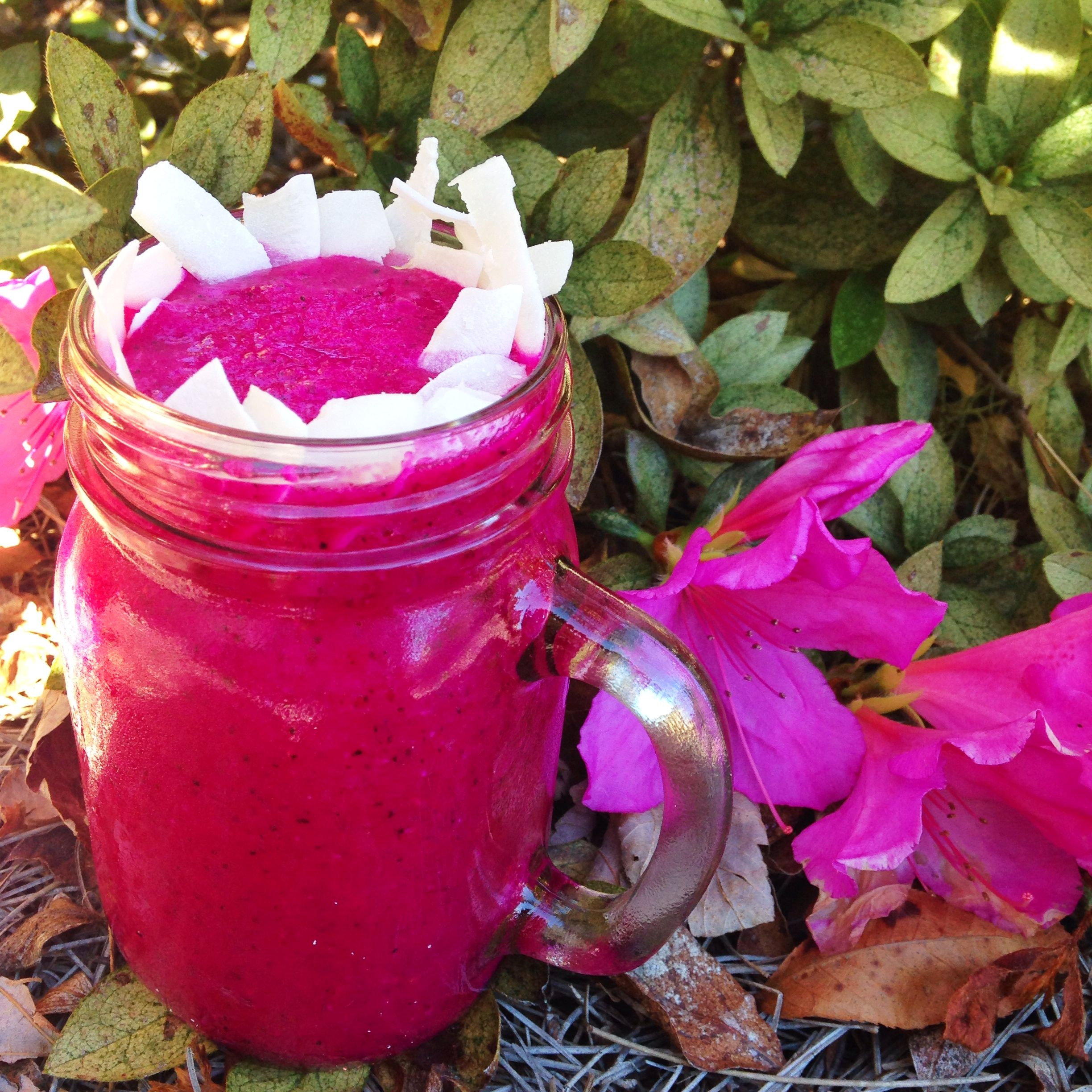 Dragon fruit comes in three colors white pink and red or magenta white - Healthy Pitaya Coconut Smoothie Made With Only 3 Ingredients Pitaya Is Also Known As Dragon
