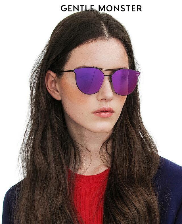 Gentle Monster X KONG HYO JIN TYPE 2 M01(9M) black titanium frame/purple lenses Sunglasses by Gentle Monster Sunglasses SKU: Gentle Monster KONG HYO JIN