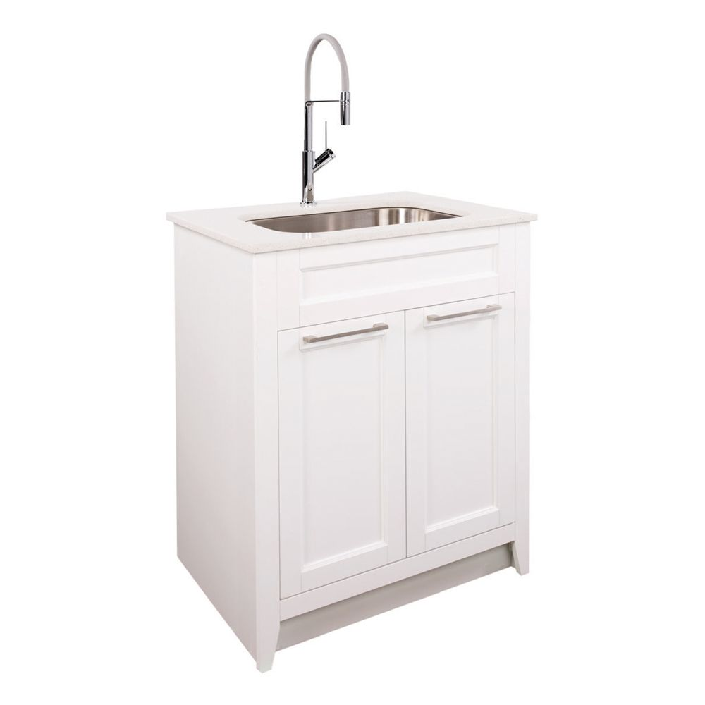 Foremost Warner 29 In Laundry Vanity Combo Lowe S Canada Vanity Combos Vanity Laundry Tubs