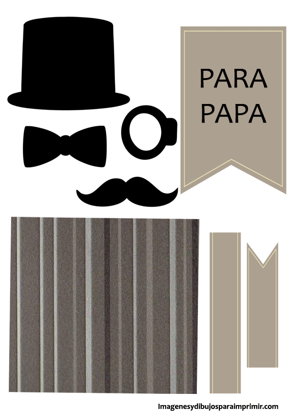 Dorable Tarjetas Imprimibles Del Día De Padres Para Colorear Adorno ...
