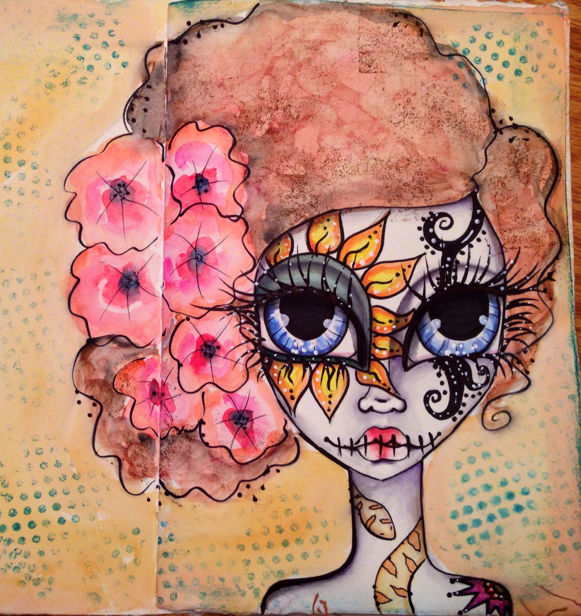 Journaling Art From Makeup