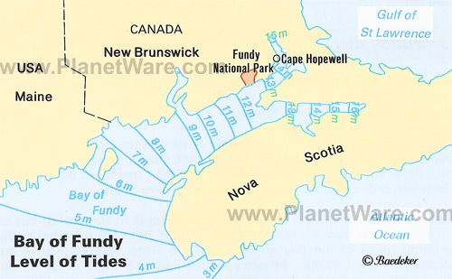 Bay of Fundy tides Some of the highest in the world travel