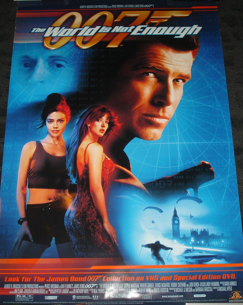 James Bond 007 The World Is Not Enough Promo Poster Pierce